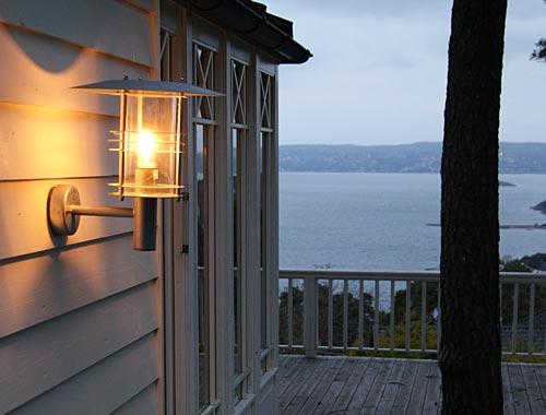 Utebelysning hytte